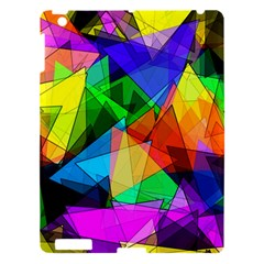 Colorful Triangles                                                                  			apple Ipad 3/4 Hardshell Case by LalyLauraFLM
