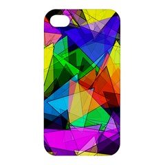 Colorful Triangles                                                                  apple Iphone 4/4s Premium Hardshell Case by LalyLauraFLM