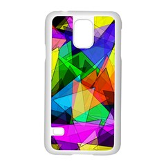 Colorful triangles                                                                  			Samsung Galaxy S5 Case (White) by LalyLauraFLM