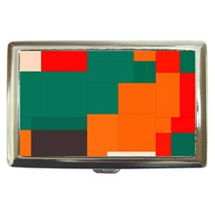 Rectangles And Squares  In Retro Colors                                                                   			cigarette Money Case
