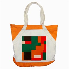Rectangles And Squares  In Retro Colors                                                                   accent Tote Bag by LalyLauraFLM