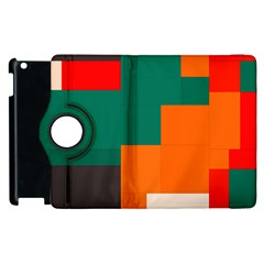 Rectangles And Squares  In Retro Colors                                                                   			apple Ipad 2 Flip 360 Case by LalyLauraFLM
