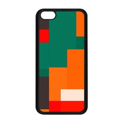 Rectangles And Squares  In Retro Colors                                                                   			apple Iphone 5c Seamless Case (black) by LalyLauraFLM
