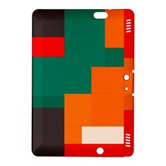Rectangles And Squares  In Retro Colors                                                                   			kindle Fire Hdx 8 9  Hardshell Case by LalyLauraFLM
