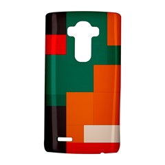 Rectangles And Squares  In Retro Colors                                                                   			lg G4 Hardshell Case by LalyLauraFLM