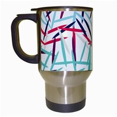 Strokes                                                                    Travel Mug (white) by LalyLauraFLM