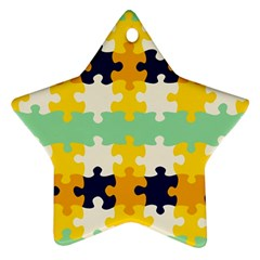 Puzzle Pieces                                                                     ornament (star) by LalyLauraFLM