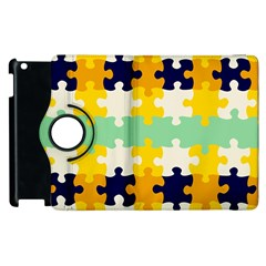 Puzzle Pieces                                                                     			apple Ipad 2 Flip 360 Case by LalyLauraFLM