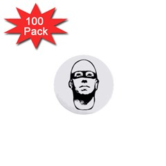 Baldhead Hero Comic Illustration 1  Mini Buttons (100 Pack)  by dflcprints