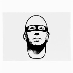 Baldhead Hero Comic Illustration Large Glasses Cloth (2 Side) by dflcprints