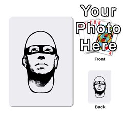 Baldhead Hero Comic Illustration Multi Purpose Cards (rectangle)  by dflcprints