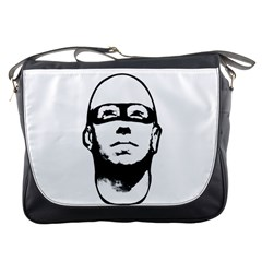 Baldhead Hero Comic Illustration Messenger Bags by dflcprints