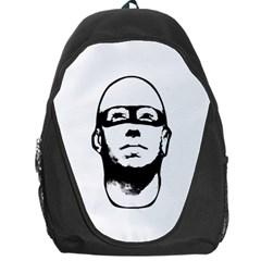 Baldhead Hero Comic Illustration Backpack Bag by dflcprints