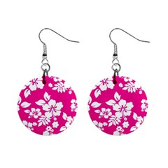 Pink Hawaiian Mini Button Earrings by AlohaStore