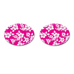 Pink Hawaiian Cufflinks (oval) by AlohaStore