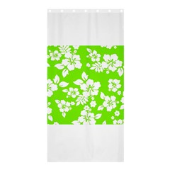 Lime Hawaiian Shower Curtain 36  x 72  (Stall)  by AlohaStore