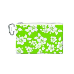 Lime Hawaiian Canvas Cosmetic Bag (S) by AlohaStore