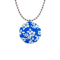 Blue Hawaiian Button Necklaces by AlohaStore