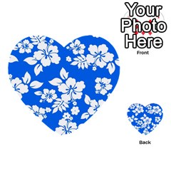 Blue Hawaiian Multi Purpose Cards (heart)