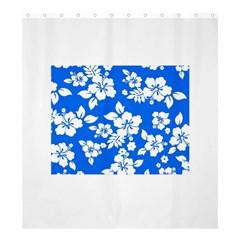 Blue Hawaiian Shower Curtain 66  X 72  (large)  by AlohaStore