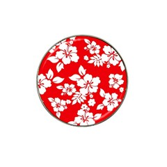 Red Hawaiian Hat Clip Ball Marker (10 Pack) by AlohaStore