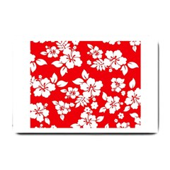 Red Hawaiian Small Doormat  by AlohaStore