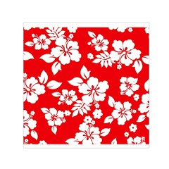 Red Hawaiian Small Satin Scarf (square) by AlohaStore