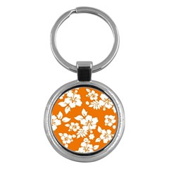 Orange Hawaiian Key Chains (round)  by AlohaStore