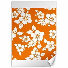 Orange Hawaiian Canvas 12  X 18   by AlohaStore