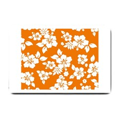Orange Hawaiian Small Doormat  by AlohaStore
