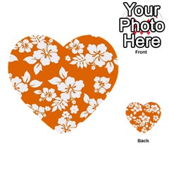 Orange Hawaiian Multi Purpose Cards (heart)  by AlohaStore