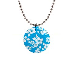 Light Blue Hawaiian Button Necklaces by AlohaStore