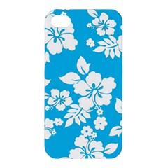 Light Blue Hawaiian Apple Iphone 4/4s Hardshell Case by AlohaStore