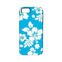 Light Blue Hawaiian Apple Iphone 5 Classic Hardshell Case (pc+silicone) by AlohaStore