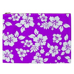 Purple Hawaiian Cosmetic Bag (xxl)  by AlohaStore