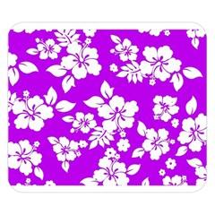 Purple Hawaiian Double Sided Flano Blanket (Small)  by AlohaStore