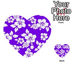 Violet Hawaiian Multi Purpose Cards (heart)  by AlohaStore