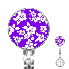 Violet Hawaiian Stainless Steel Nurses Watch by AlohaStore