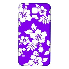 Violet Hawaiian Samsung Galaxy S5 Back Case (white) by AlohaStore