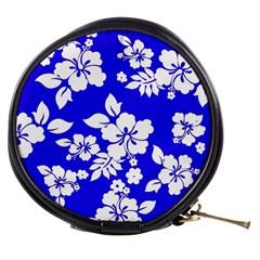Deep Blue Hawaiian Mini Makeup Bags by AlohaStore