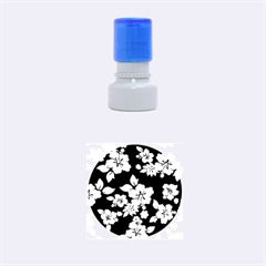 Deep Blue Hawaiian Rubber Round Stamps (small) by AlohaStore