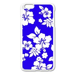 Deep Blue Hawaiian Apple Iphone 6 Plus/6s Plus Enamel White Case by AlohaStore
