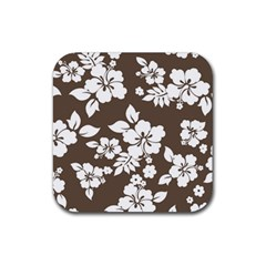 Sepia Hawaiian Rubber Coaster (Square)  by AlohaStore