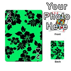 Dark Lime Hawaiian Playing Cards 54 Designs
