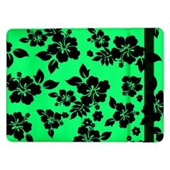 Dark Lime Hawaiian Samsung Galaxy Tab Pro 12 2  Flip Case by AlohaStore