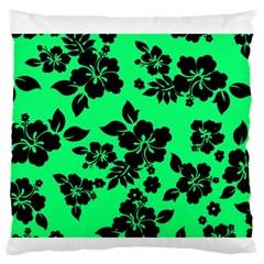 Dark Lime Hawaiian Standard Flano Cushion Case (two Sides) by AlohaStore