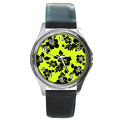 Dark Hawaiian Round Metal Watch by AlohaStore