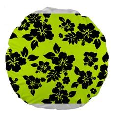 Dark Hawaiian Large 18  Premium Flano Round Cushions by AlohaStore