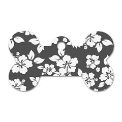 Gray Hawaiian Dog Tag Bone (two Sides) by AlohaStore
