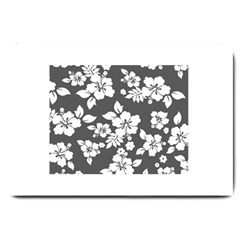 Gray Hawaiian Large Doormat  by AlohaStore